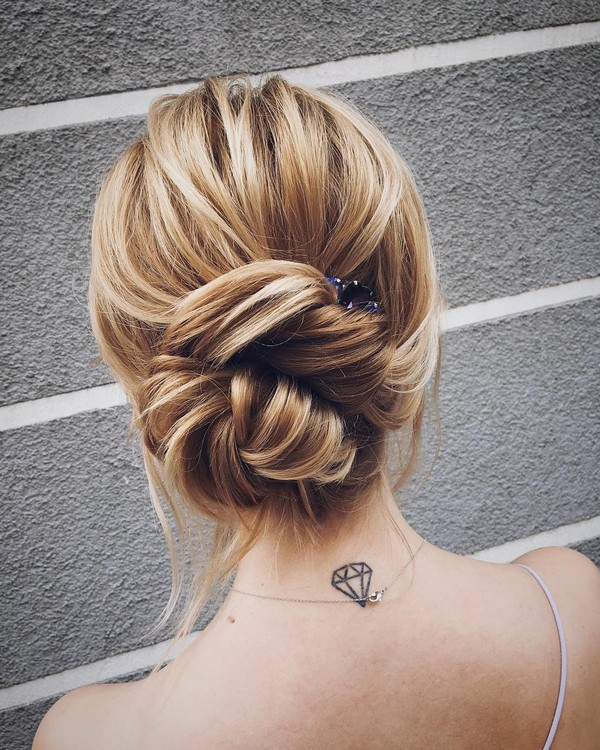 simple romantic updo wedding hairstyles