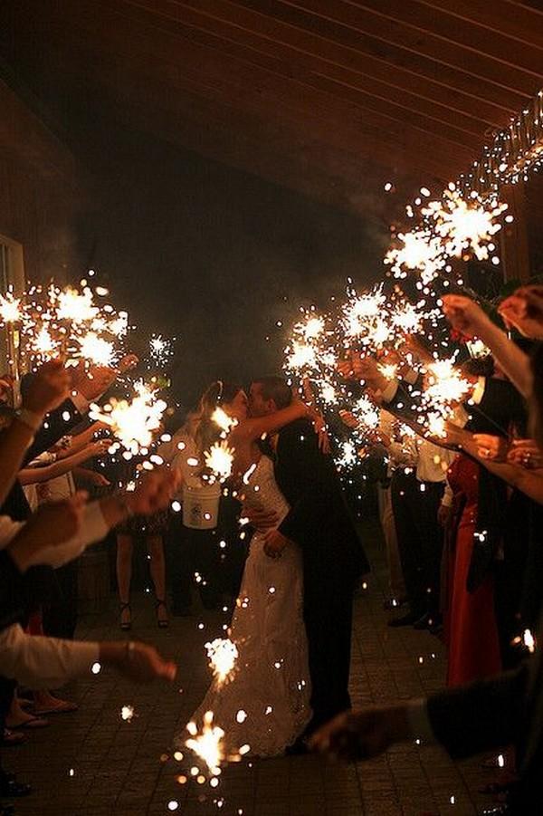 sparklers send off wedding ideas