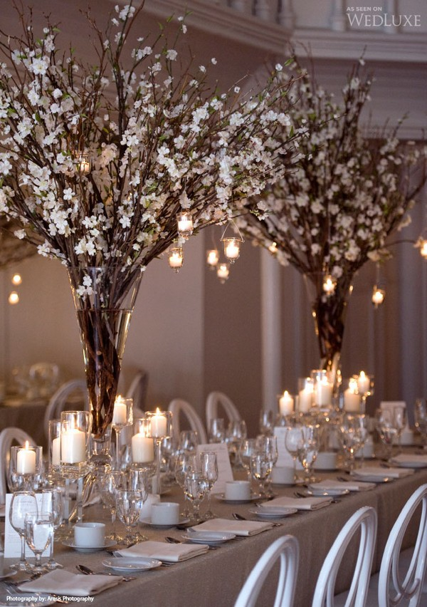 stunning tall wedding centerpieces with candles