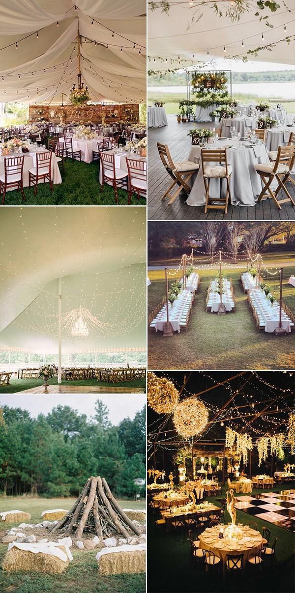 trending outdoor wedding reception ideas