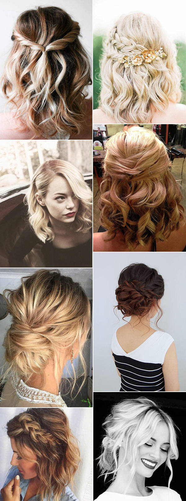 trending wedding hairstyles for medium length hair