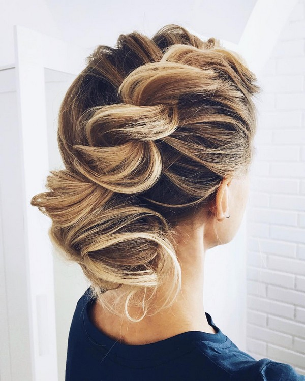 twisted updo wedding hairstyles