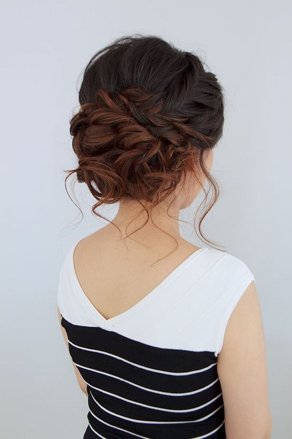 updos wedding hairstyle for medium length