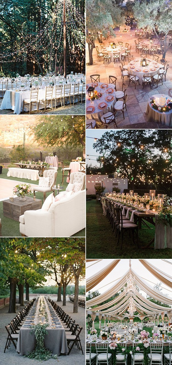 whimsical outdoor wedding reception decorations