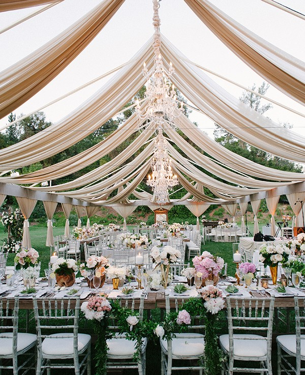 whimsical outdoor wedding reception ideas