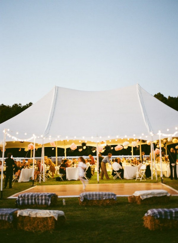 white tented outdoor wedding reception ideas