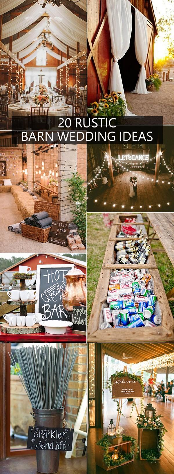 20 rustic barn wedding ideas for 2018