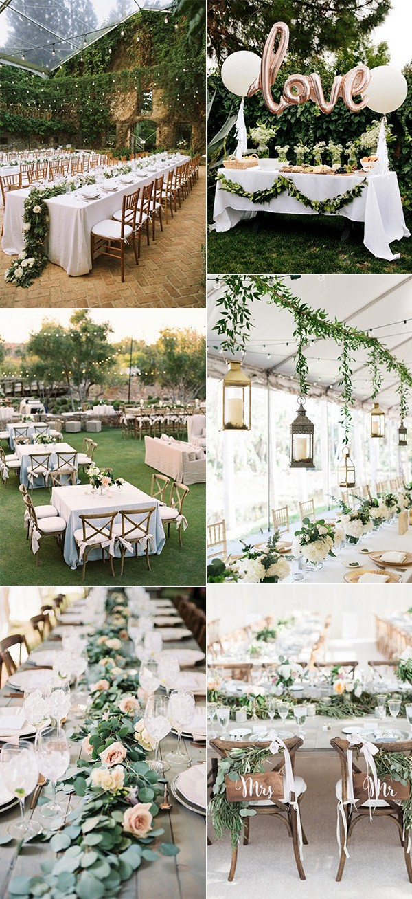 25 brilliant garden wedding decoration ideas for 2018 trends page 2018 trending garden themed wedding reception ideas workwithnaturefo