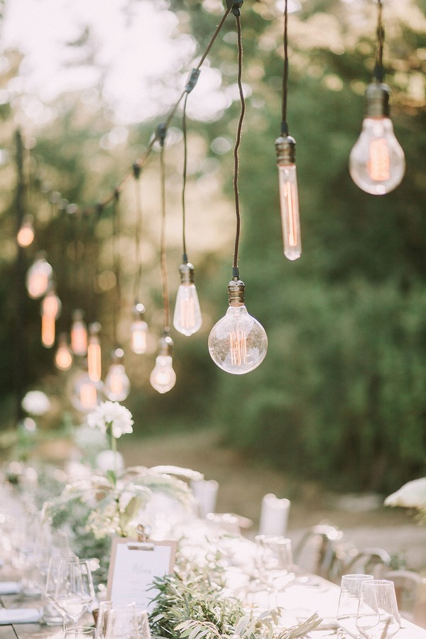 Edison bulbs string lights for wedding decorations