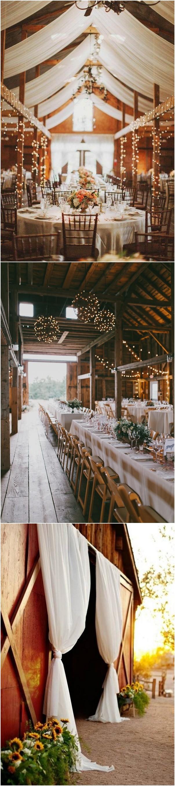 country rustic barn wedding reception ideas