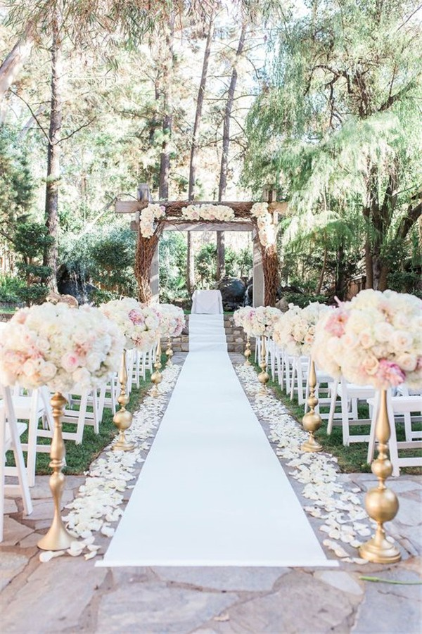 25 brilliant garden wedding decoration ideas for 2018 trends floral wedding aisle decoration ideas junglespirit Gallery