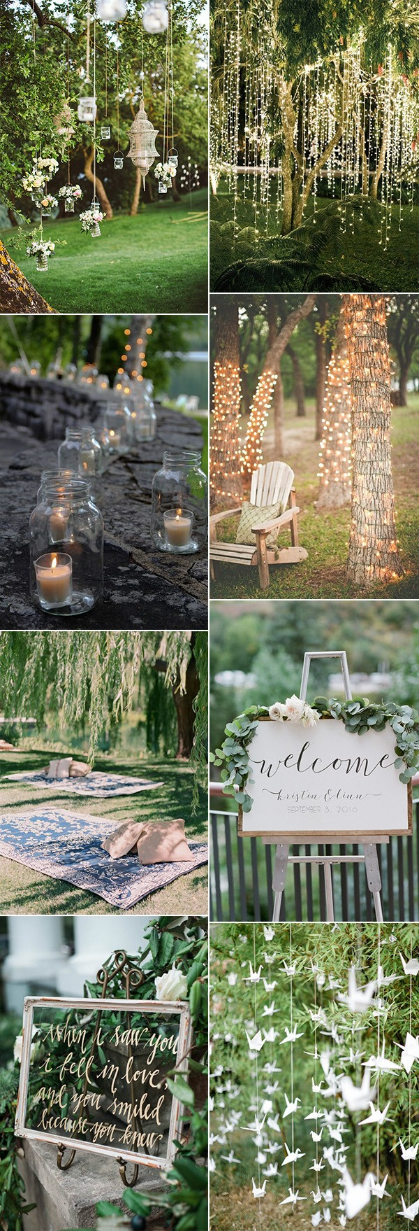 25 Brilliant Garden Wedding Decoration Ideas for 2018 Trends - Page ...