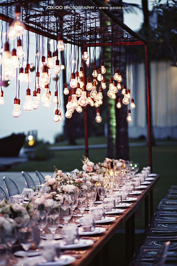 outdoor rustic wedding reception ideas