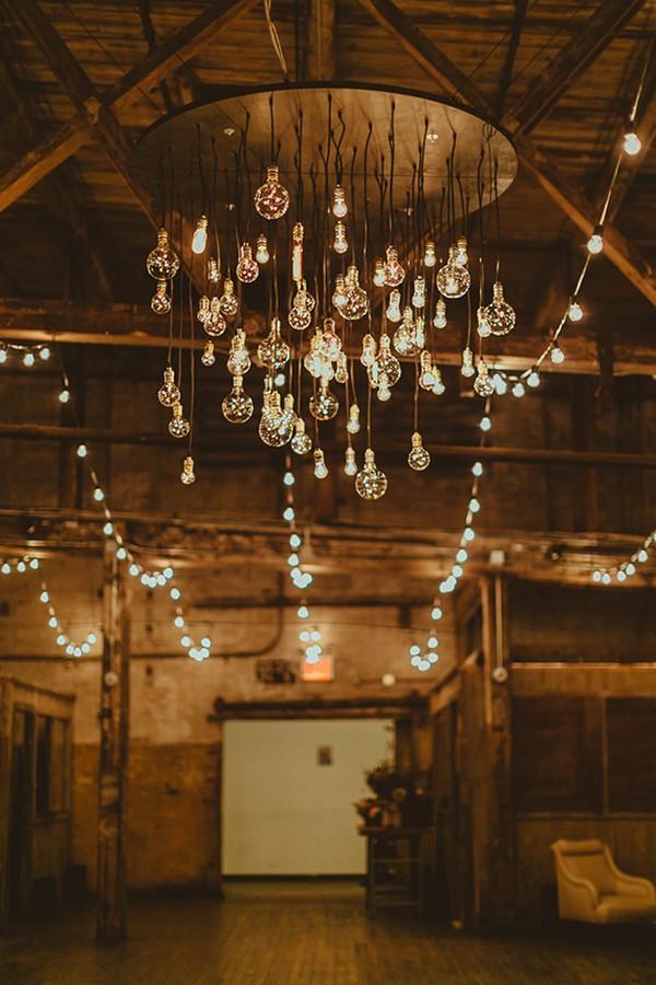 Rustic Wedding Chandelier Ideas With Edison Bulbs Emmalovesweddings