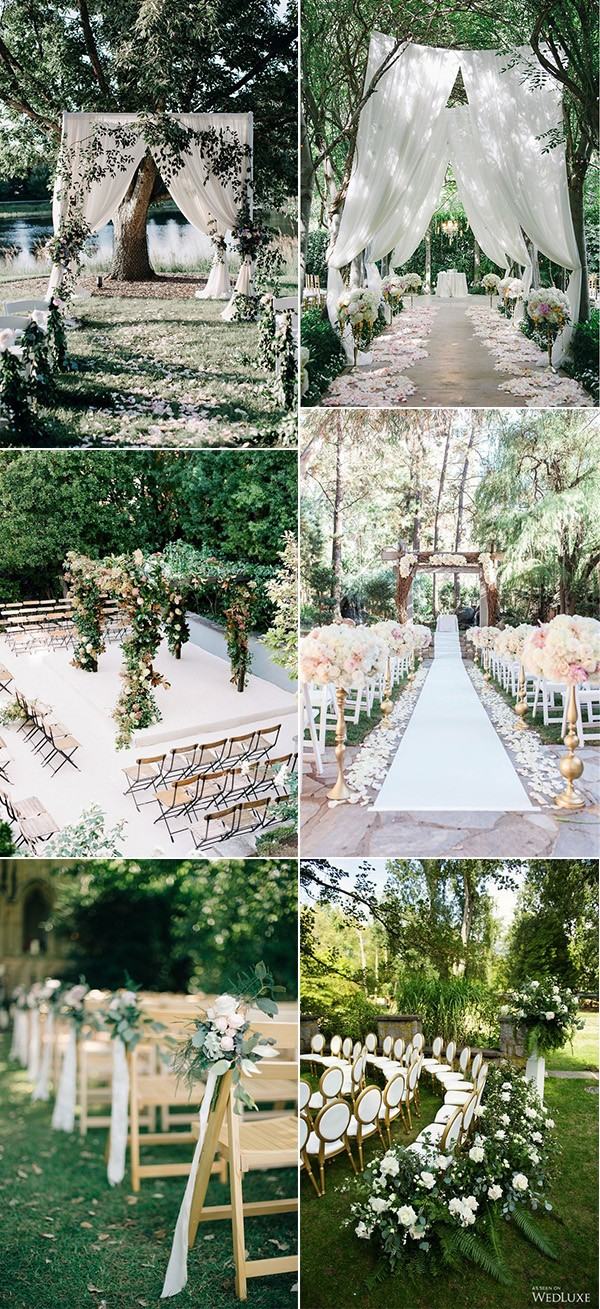 Trending Garden Wedding Ceremony Decoration Ideas