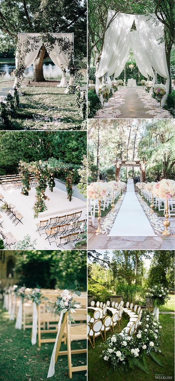 trending garden wedding ceremony decoration ideas
