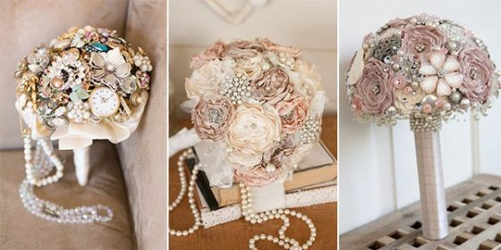 wedding brooch bouquet ideas