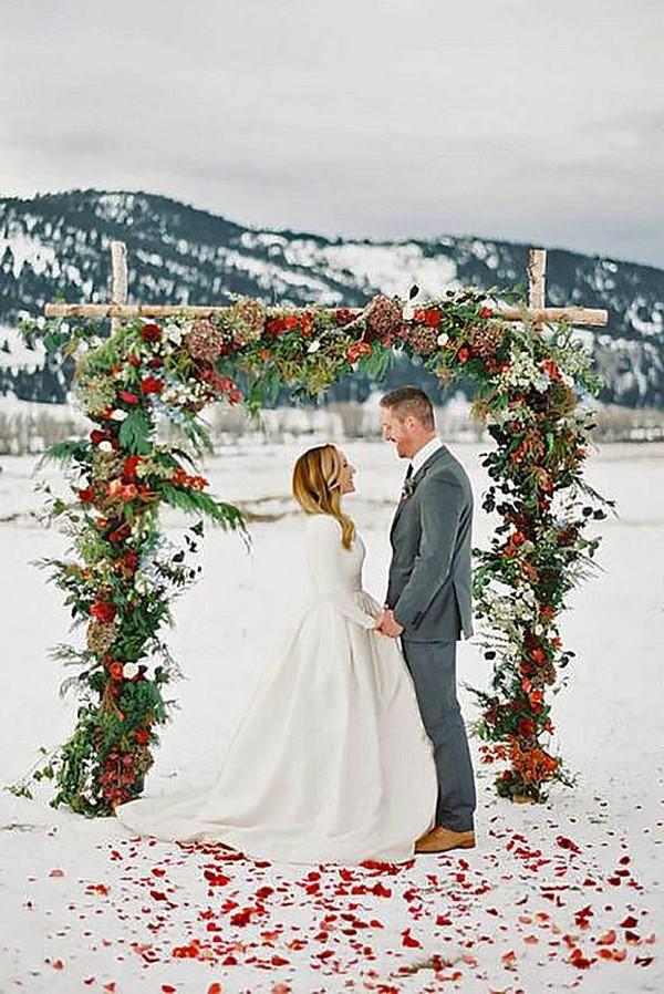 18 Stunning Christmas Themed Winter Wedding Ideas Page 2