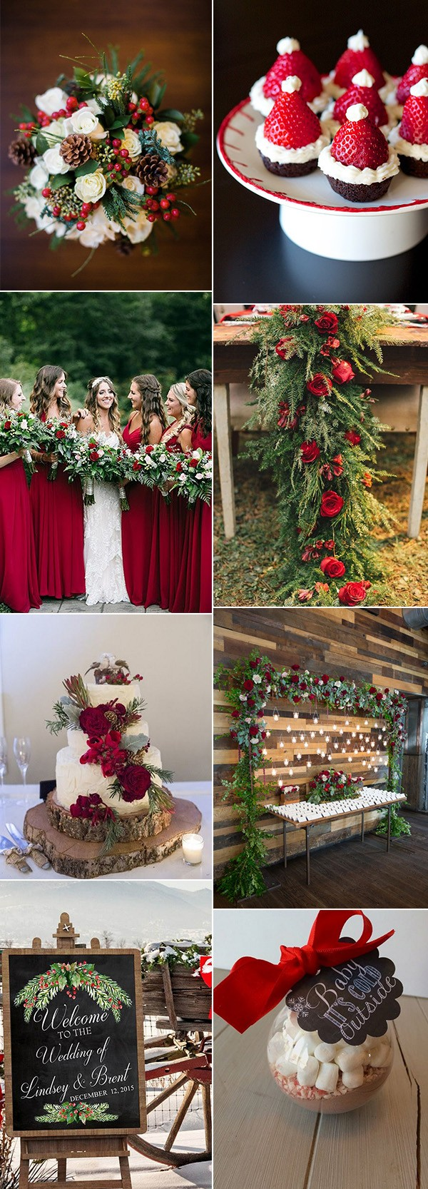 Christmas Themed Wedding Ideas For Winter
