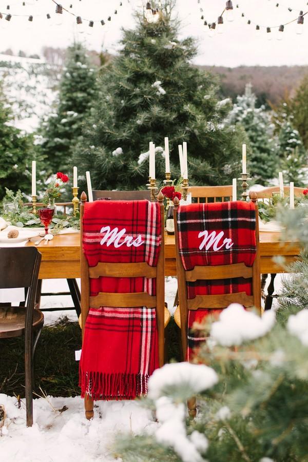 Christmas wedding reception ideas for winter 2017