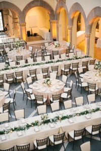 Chic White And Greenery Wedding Reception Table Layout Ideas