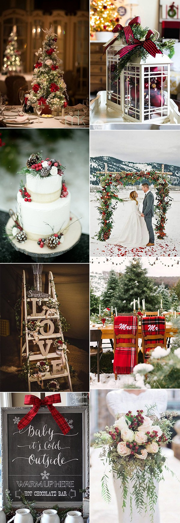 Winter Wonderland Christmas Wedding Ideas.18 Stunning Christmas Themed Winter Wedding Ideas