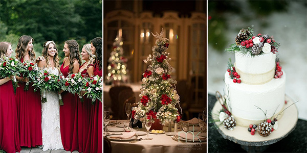 18 stunning christmas themed winter wedding ideas emmalovesweddings 18 stunning christmas themed winter wedding ideas junglespirit Image collections