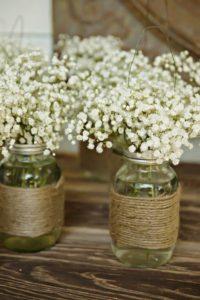 country rustic mason jar wedding centerpieces - EmmaLovesWeddings