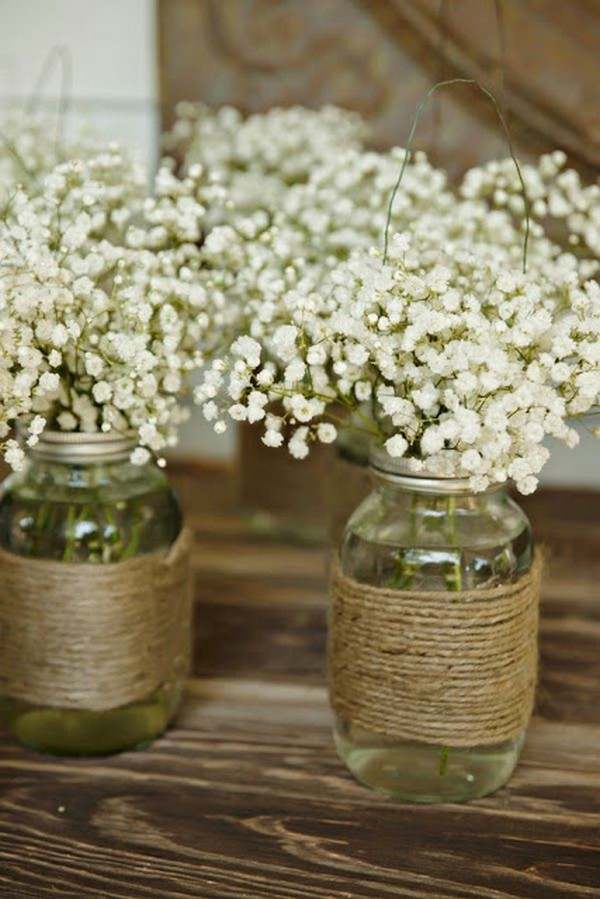 Mason Jar Wedding Centerpieces.Country Rustic Mason Jar Wedding Centerpieces Emmalovesweddings