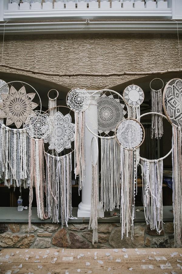20 Dreamy Boho Room Decor Ideas: Dreamcatcher Boho Wedding Decoration Ideas