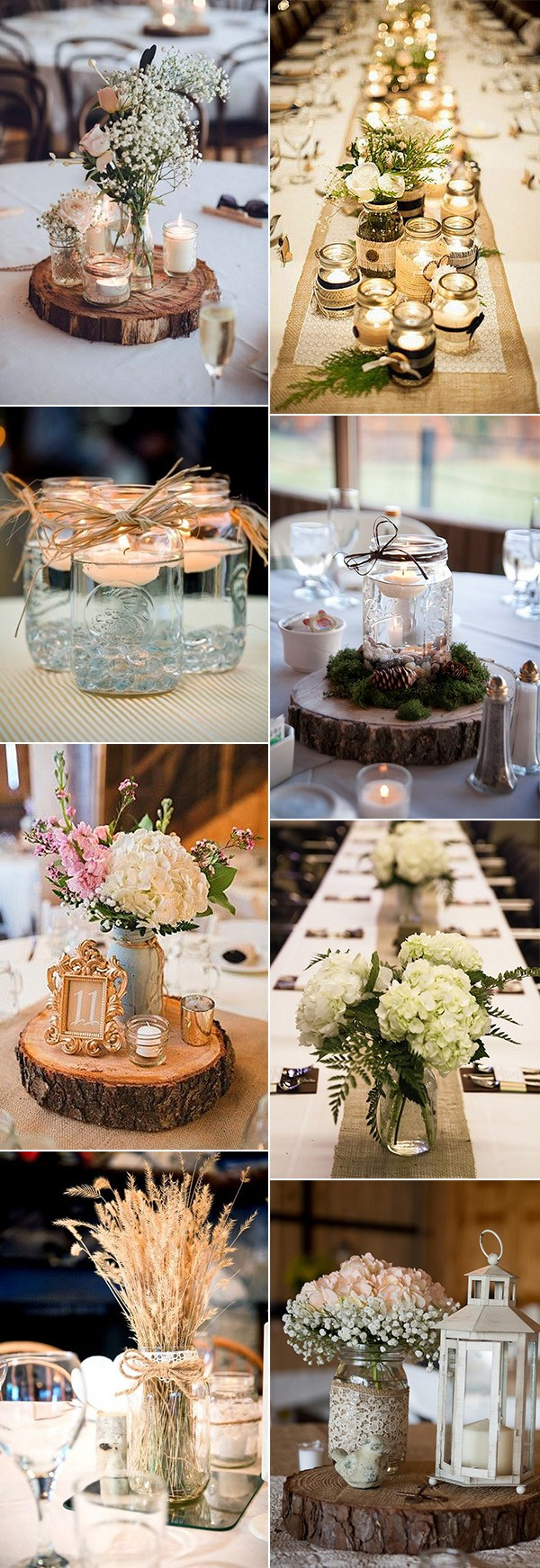 18 Gorgeous Mason Jars Wedding Centerpiece Ideas for Your Big Day ...