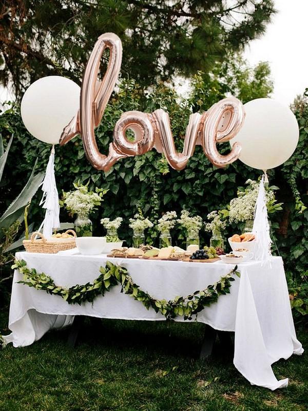 greenery bridal shower decoration ideas