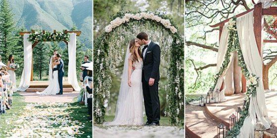 greenery wedding alters