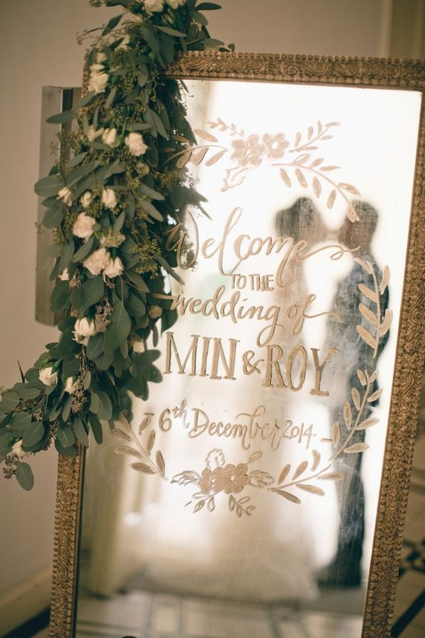 18 Brilliant Vintage Mirror Wedding Sign Ideas For 2018