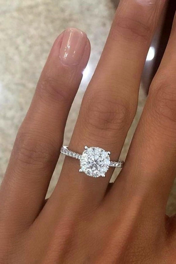 bridal rings solitaire engagement set wedding cross ring and prong band diamond product jewellery