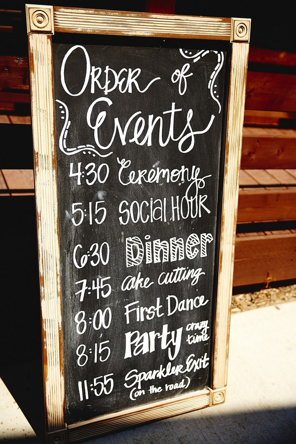 rustic chalkboard wedding sign ideas