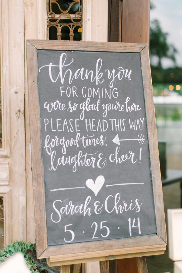 20 Chic Rustic Chalkboard Wedding Sign Ideas