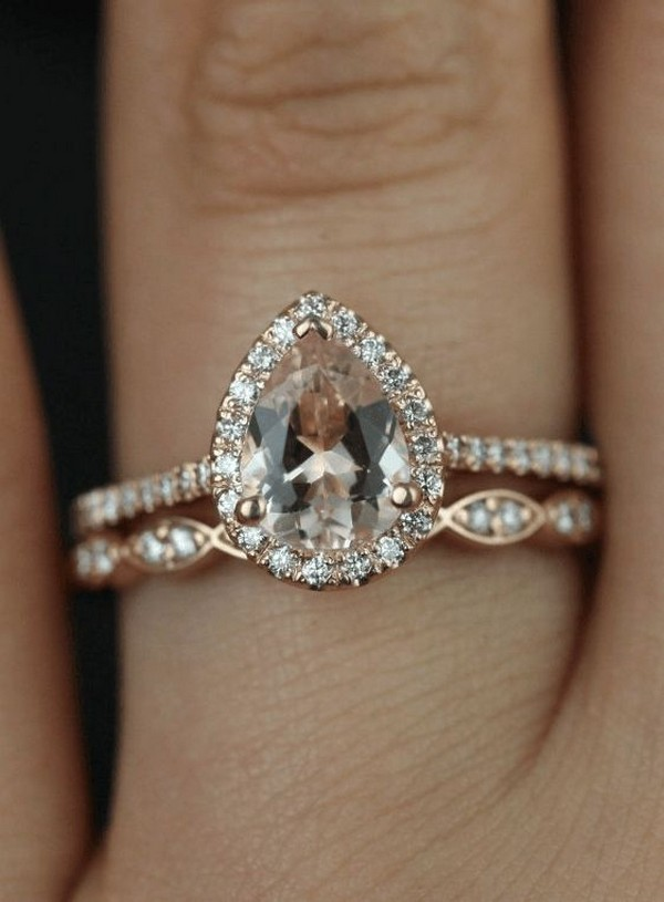 stunning rose gold and diamond wedding engagement ring