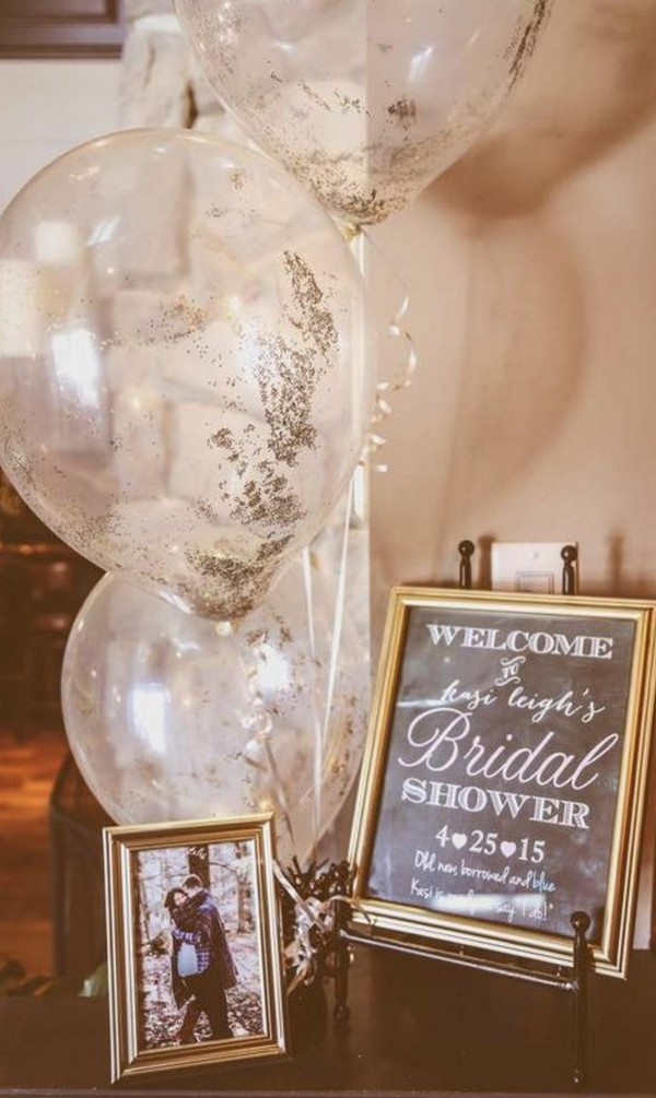 vintage bridal shower decoration ideas with balloons