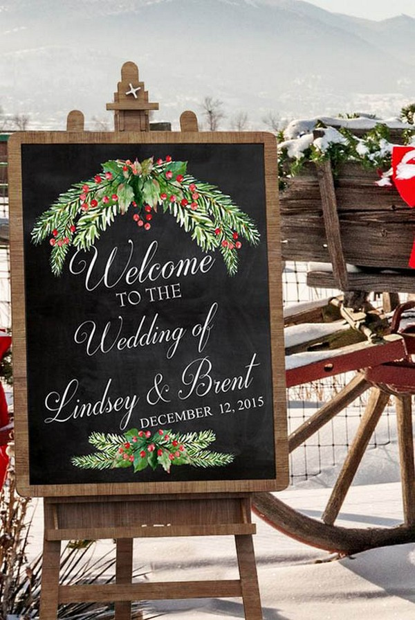 wedding sign ideas for winter 2017