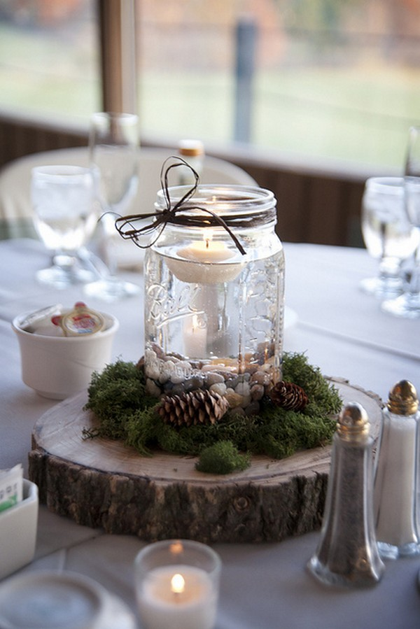 Gorgeous mason jars wedding centerpiece ideas for your