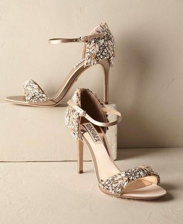 BHLDN neutral wedding shoes