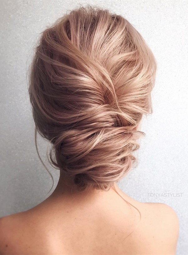 French Twist updo wedding hairstyles