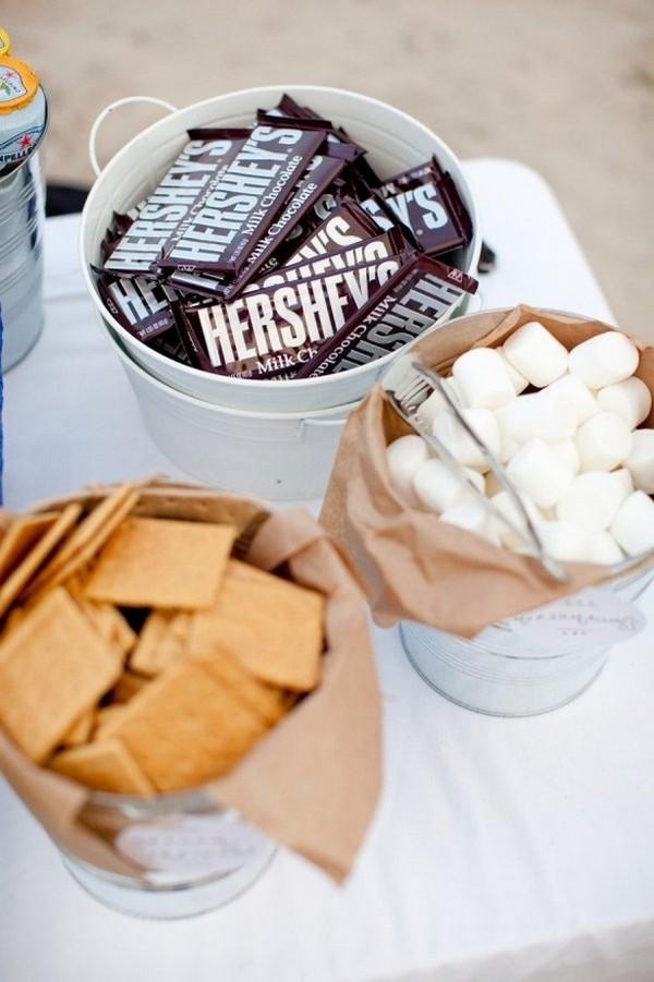 S'mores Bar wedding food ideas
