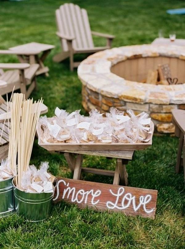 backyard wedding food S'mores Bar ideas