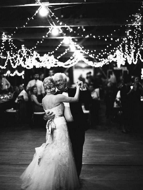 beautiful father daughter dance wedding photo