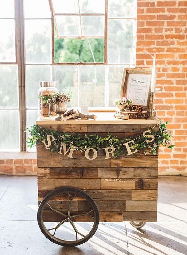 chic vintage S'mores Bar wedding ideas