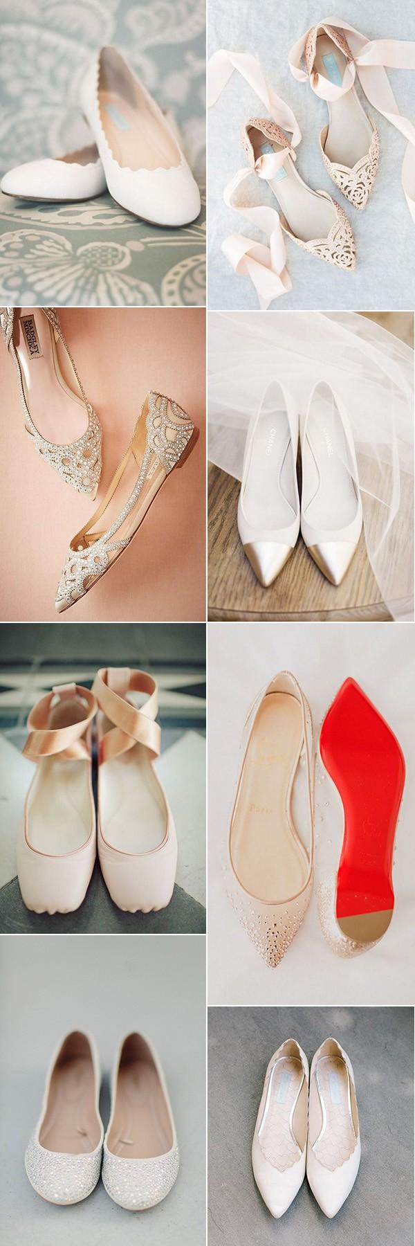 comfortable and stylish flat wedding shoes