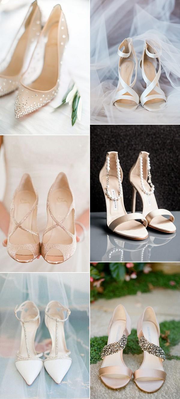 elegant neutral bridal wedding shoes for 2018