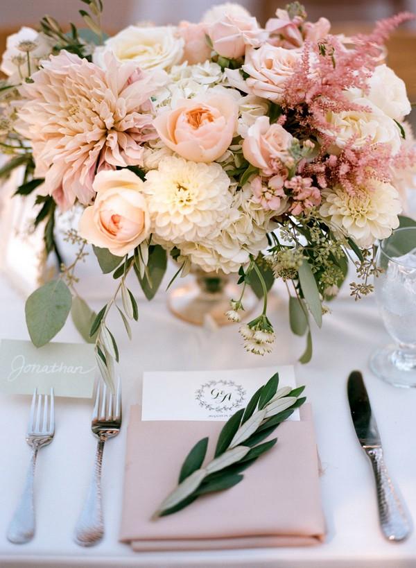 elegant pink wedding table decoration ideas